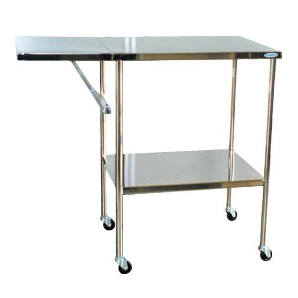 【代引不可】スギモト ステンレス製 折りたたみテーブル付器械台 OA-30