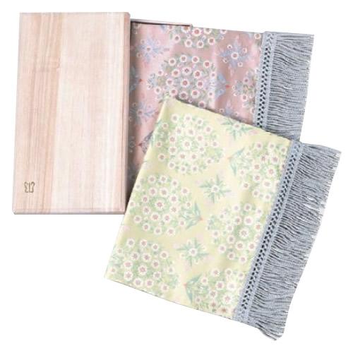 川島織物セルコン テーブルセンター 生命の樹 織りセンター 桐箱入り 28×55cm HP1043
