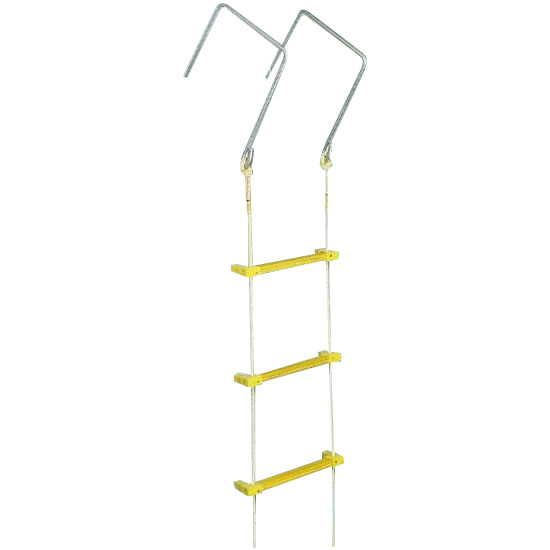【代引不可】八ツ矢工業(YATSUYA) 縄はしご 大カギ付 10m 12032