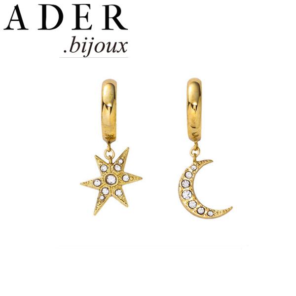 [あす楽対応可] [正規販売店] ADER.bijoux アデルビジュー アデル MOON&STAR hoop pierce/earring ピアス イヤリング RE-1115