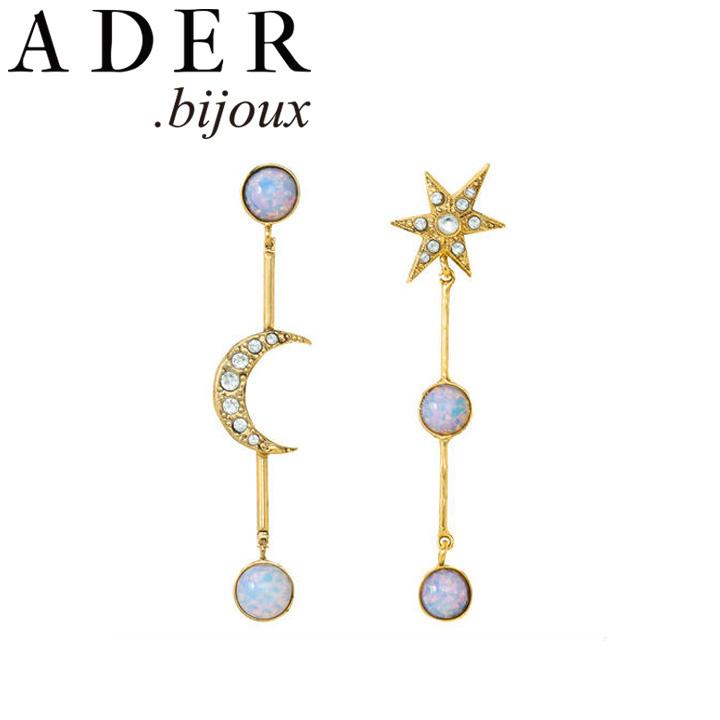 [あす楽対応可] [正規販売店] ADER.bijoux アデルビジュー アデル ムーン&スター カボション ピアス イヤリング RE-1169