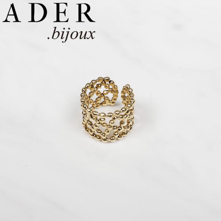 [あす楽対応可] [正規販売店] ADER.bijoux アデルビジュー アデル CUTSTEEL quilt band リング RR-1142