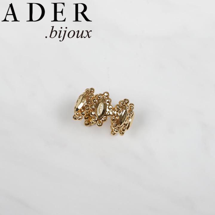 [あす楽対応可] [正規販売店] ADER.bijoux アデルビジュー アデル カットスチール フラワー リング RR-1163