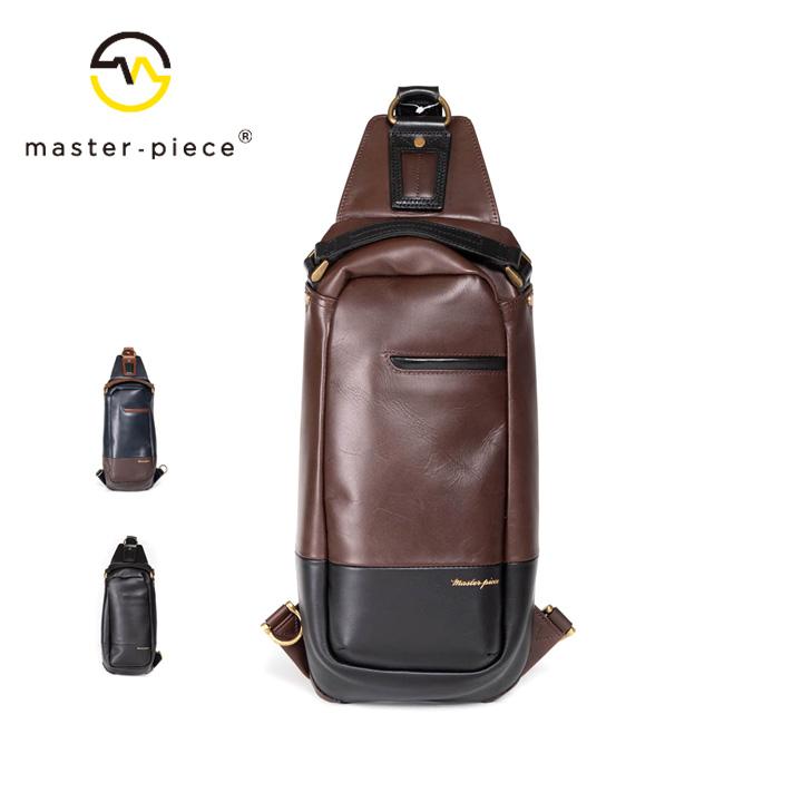 [正規品] MASTER PIECE マスターピース Gloss スリングバッグ バッグ ショルダー 01642-v2 牛革 カジュアル ビジネス メンズ 店舗 日本製 新品 プレゼント 新品