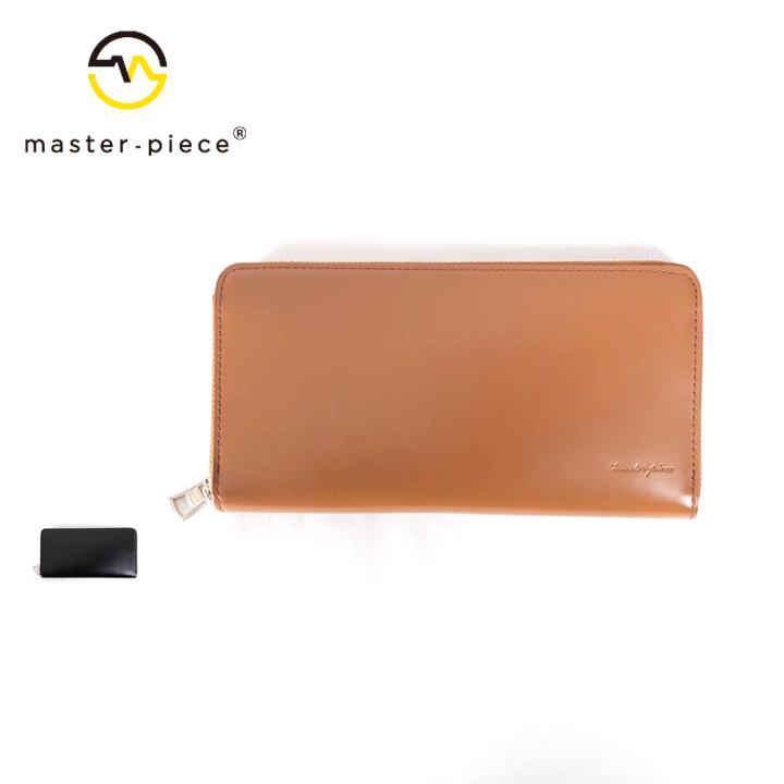 [正規品] MASTER PIECE マスターピース PLAIN ラウンドウォレット 財布 223110-v2 牛革 カジュアル ビジネス メンズ 店舗 日本製 新品 プレゼント 新品