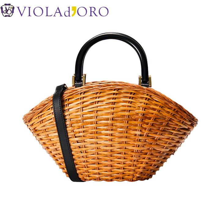 [正規販売店] ヴィオラドーロ VIOLAd'ORO 2WAY かごバッグ バッグ かご v-8178 斜めがけ キレイめ レディース おしゃれ 贈り物 プレゼント 新品 正規品