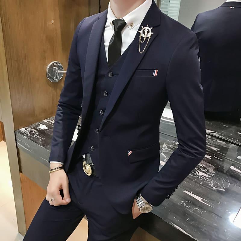 スーツ メンズ おしゃれ オシャレ ビジネス セットアップ フォーマル 結婚式 カジュアルスーツ 細身 通勤 かっこいい 2ピース 3ピース 3445