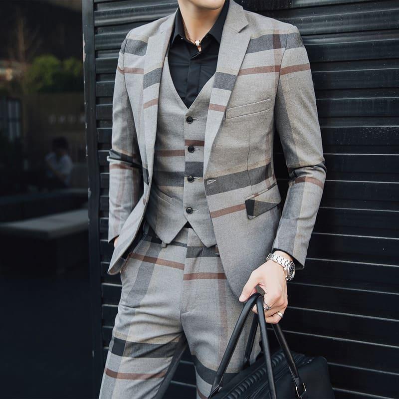 フォーマル メンズ スーツ パンツ ビジネス 仕事 通勤 セットアップ カジュアルスーツ 大きいサイズ 結婚式 二次会 ベスト 成人式 リクルート 4359