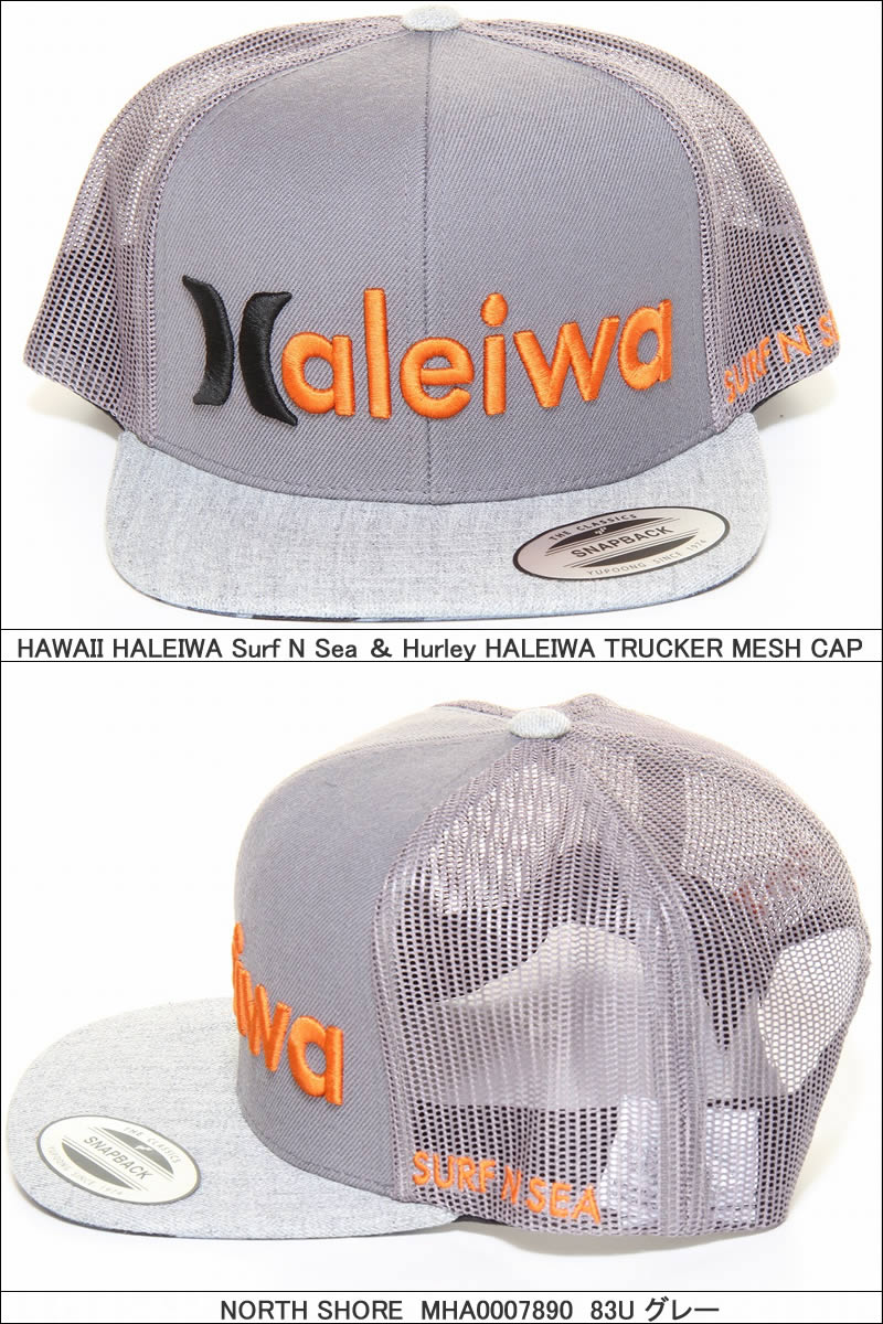 HURLEY SURF-N-SEA MHA0007890 HALEIWA TRUCKER CAP collaboration mesh cap  surf and sea Harley cff0a9395eb0