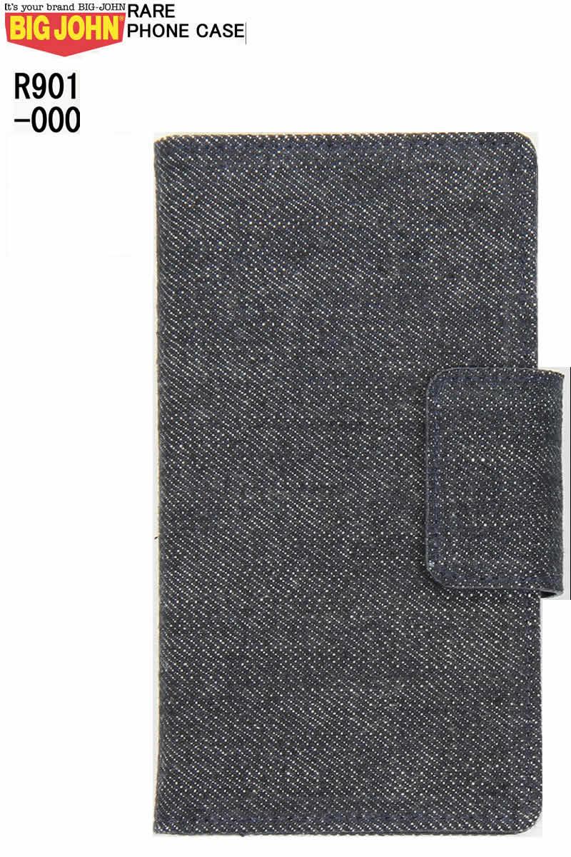 BIGJOHN ビックジョン R901 000 RARE PHONE CASE iphone ケース スマホケース 本革 藍聖デニム 機種対応 手帳型【big john ビックジョン スマートフォンアクセサリー スマートフォンケース 藍聖デニム リジット 回転方式 新品】