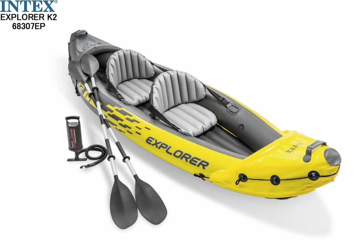 INTEX インテックス EXPLORER K2 68307EP TWO-PERSON KAYAK エクスプローラー K2 カヤック 2人乗り 2人用ボート エアーボート 湖 川【大人気 ビニールボート セット スポーツ アウトドア カヌー カヤック 船 フィッシングボート マリンスポーツ 新品】
