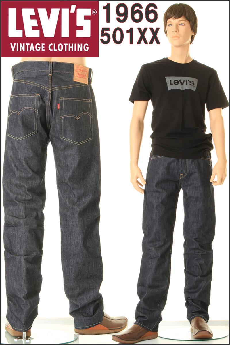 LEVI's 制造在美国 1966年 501XX 李维斯复古服装 JEANS66501-0008 66 的刚性 XX 双 x
