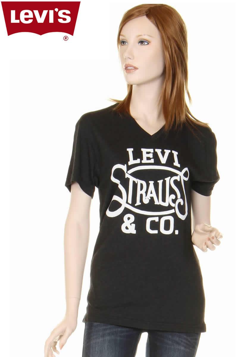 Co ThreeloveLevi's 117500 Levi T Logo V Ladies Shirts Strausamp; mn08wNvO
