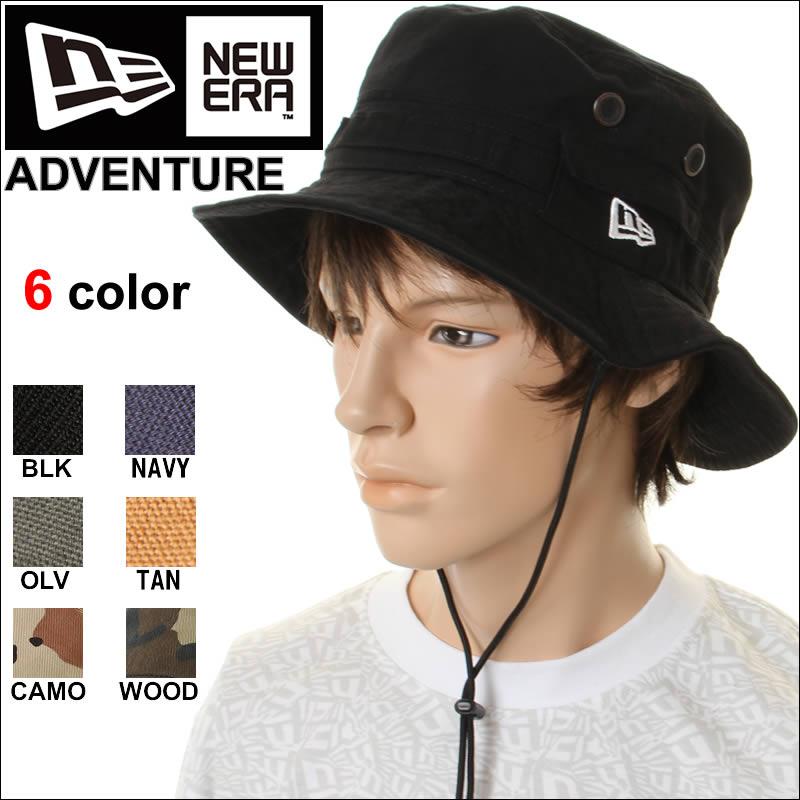 NEW ERA帽子ADVENTURE 4color冒险鸭棉布户外帽子帽子四色(黄褐色黑色油橄榄)NEW ERA户外帽子N0004951