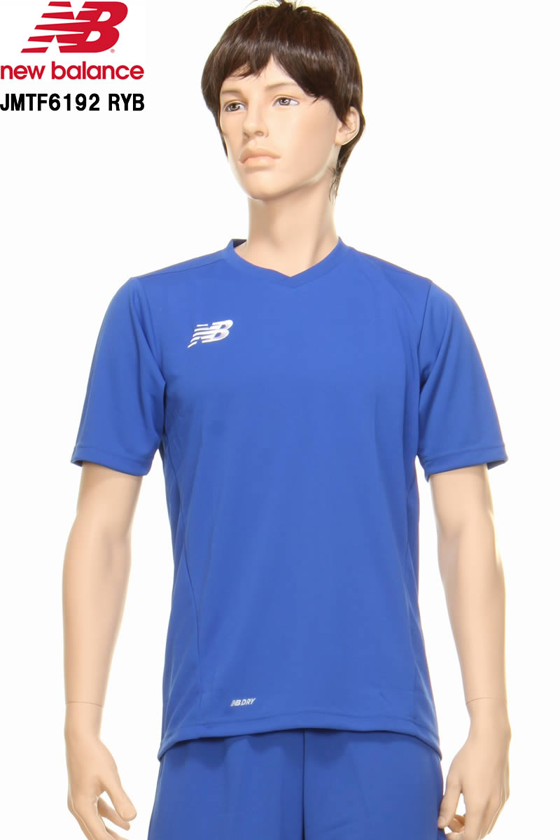 38a9fb4090a new balance New Balance JMTF6192 RYB soccer men game shirt soccer futsal  uniform men short sleeves ...