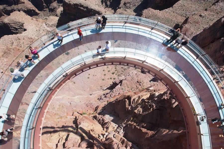 大峡谷天空漫步限量乘员组 t 恤圆领 T 衬衫衬衫 t 恤衫大峡谷天空步道 T 版打印