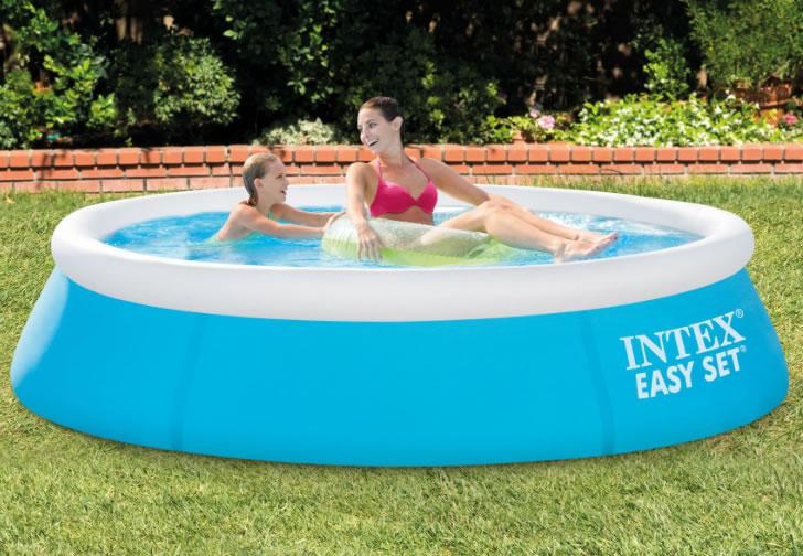 INTEX 28101 INTEC\'s EASY SET Pool easy set pool 183*51cm large size pool  family pool round shape circular pool