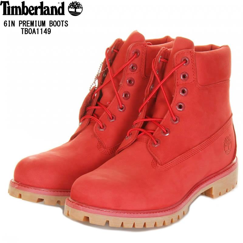 74ea96a6224 Timberland Timberland TB0A1149 men six inch premium waterproof boots medium  red A1149