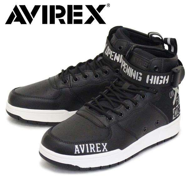 正規取扱店 AVIREX (アヴィレックス) AV1272 LANGLEY MID ラングレー ミッド スニーカー BLACK