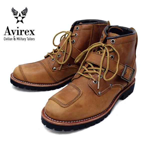 正規取扱店 AVIREX U.S.A.(アビレックス) AV2931 TIGER(タイガー) バイカースタイルミッドブーツ CRAZY HORSE クレイジーホース