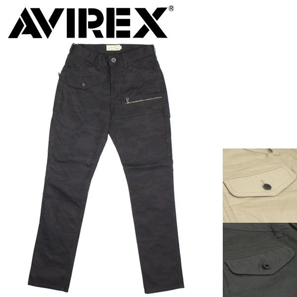 正規取扱店 AVIREX (アヴィレックス) 6156101 STRETCH DOBBY PANT ストレッチ ドビー パンツ 全3色