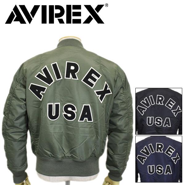正規取扱店 AVIREX (アヴィレックス) MA-1 COMMERCIAL LOGO (エムエーワン コマーシャルロゴ フライトジャケット) 全3色