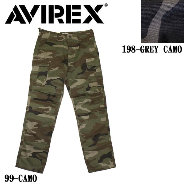 正規取扱店 AVIREX (アヴィレックス) CAMOUFLAGE FATIGUE PANTS カモフラージュ ファティーグパンツ 全2色