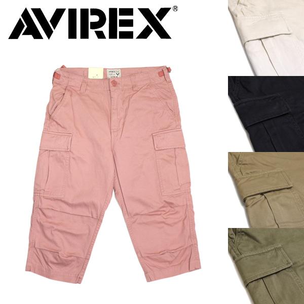 正規取扱店 AVIREX (アヴィレックス) 6166114 FATIGUE CROPPED PANTS ファティーグ クロップド パンツ 全5色