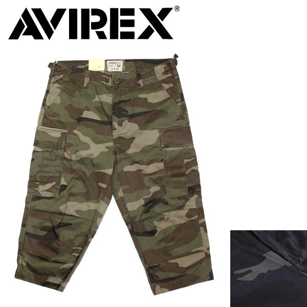 正規取扱店 AVIREX (アヴィレックス) 6166115 CAMOUFLAGE FATIGUE CROPPED PANTS カモフラージュ ファティーグ クロップド パンツ 全2色