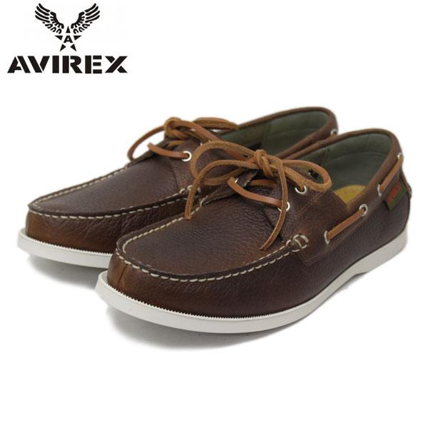 正規取扱店 AVIREX U.S.A.(アビレックス) AV6400 FALCON(ファルコン) BROWN SHRINK ブラウンシュリンク