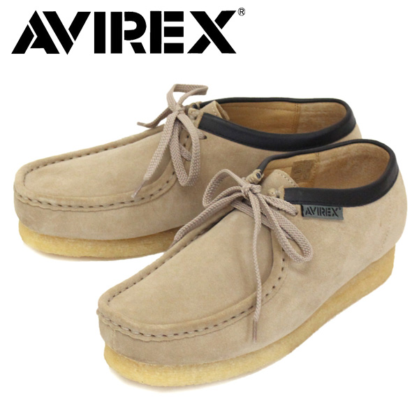 正規取扱店 AVIREX (アヴィレックス) AV6510 MADISON 2ホール マディソン ワラビー スエード レザーブーツ BEIGE SUEDE
