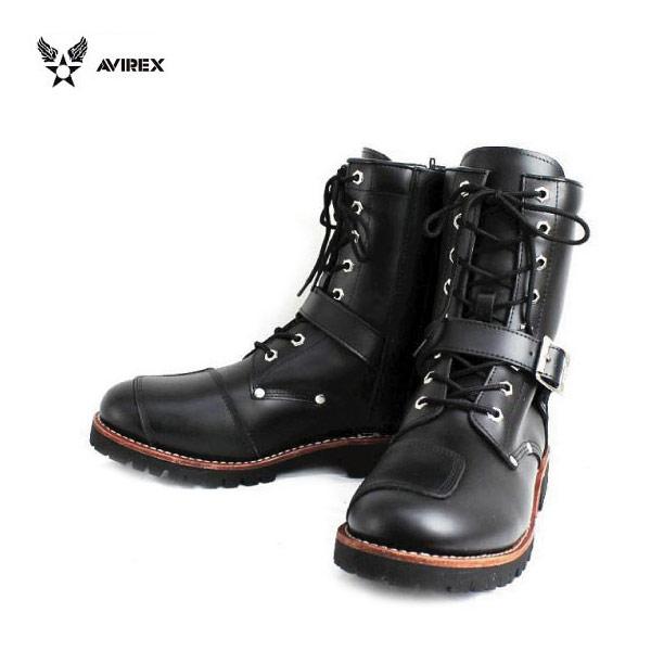 正規取扱店 AVIREX U.S.A.(アビレックス) AV2100 YAMATO(ヤマト) バイカースタイルブーツ BLACK ブラック