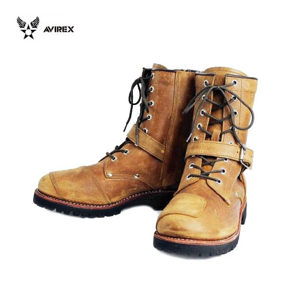 正規取扱店 AVIREX U.S.A.(アビレックス) AV2100 YAMATO(ヤマト) バイカースタイルブーツ CRAZY HORSE クレイジーホース