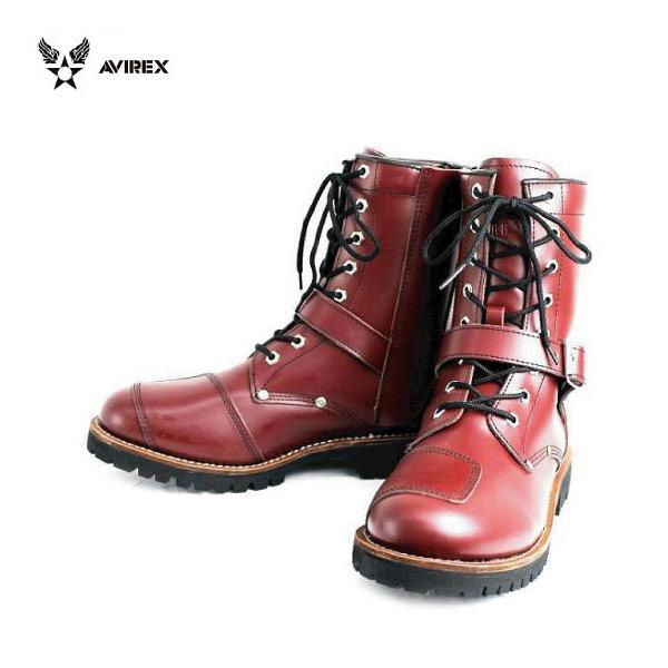 正規取扱店 AVIREX U.S.A.(アビレックス) AV2100 YAMATO(ヤマト) バイカースタイルブーツ CHERRY BROWN チェリーブラウン
