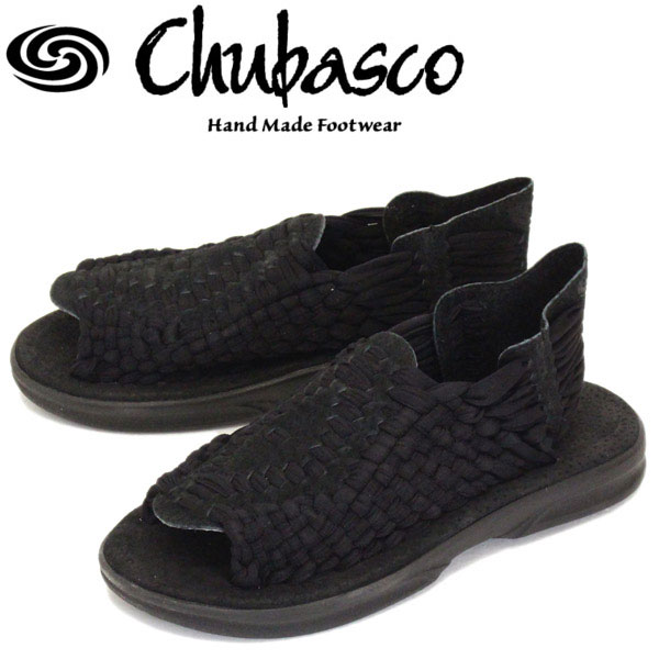 正規取扱店 Chubasco (チュバスコ) A130293 AZTEC アズテック オリジナルソール サンダル BLACK/BLACK