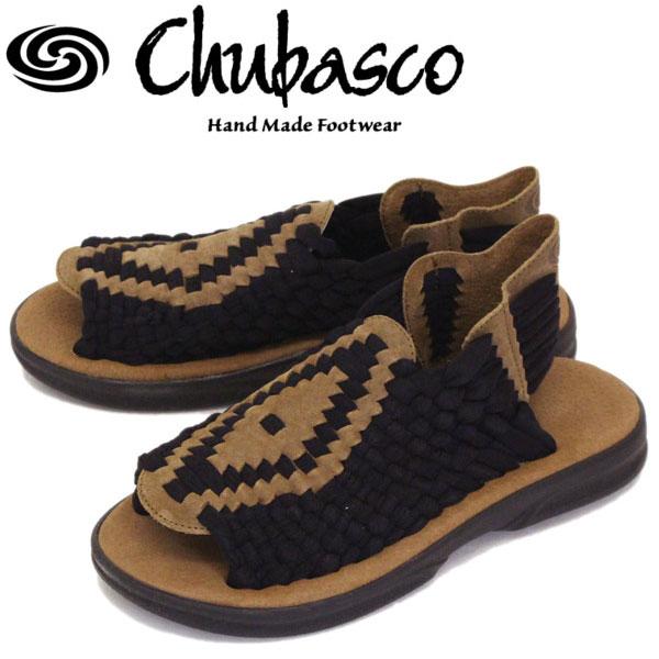 正規取扱店 Chubasco (チュバスコ) A80421 AZTEC アズテック オリジナルソール サンダル BLACK/COFFEE