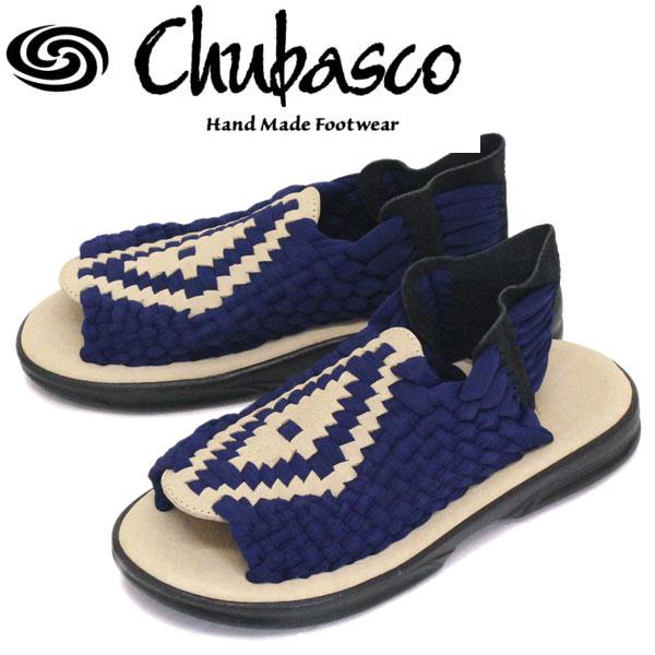 正規取扱店 Chubasco (チュバスコ) AZ16020O AZTEC アズテック オリジナルソール サンダル NAVY/SAND