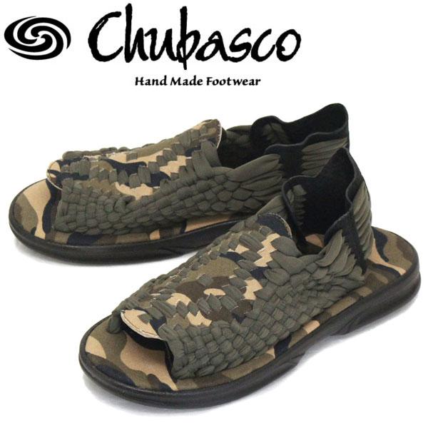 正規取扱店 Chubasco (チュバスコ) AZ160EE AZTEC アズテック オリジナルソール サンダル CAMO