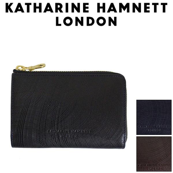 正規取扱店 KATHARINE HAMNETT LONDON (キャサリンハムネット ロンドン) 490-57303 Wave L型ファスナー ミドルBOXウォレット 全3色