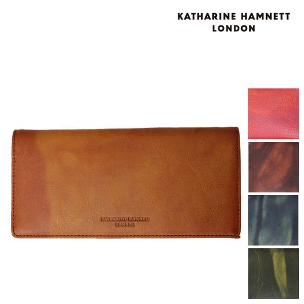 正規取扱店 KATHARINE HAMNETT LONDON (キャサリンハムネット ロンドン) FLUID 束入れ レザーウォレット 財布 全5色