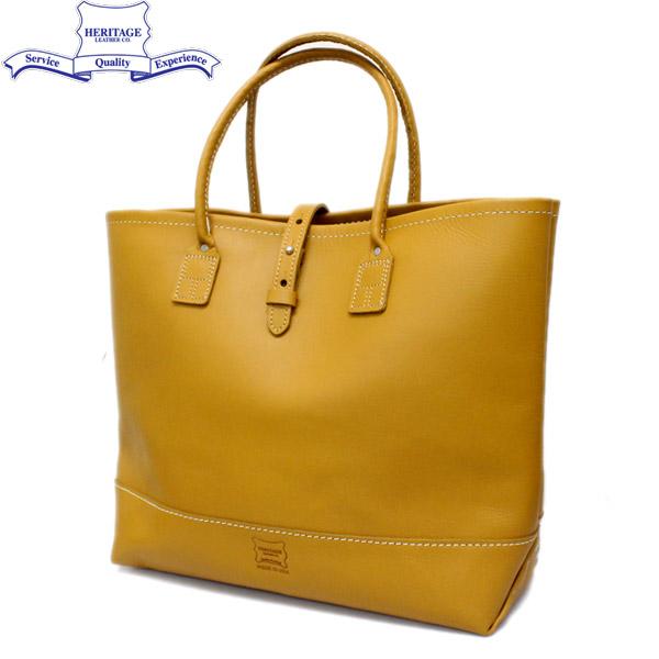 正規取扱店 HERITAGE LEATHER CO.(ヘリテージレザー) NO.7955ST Mocassin Leather Tote Bag(レザートートバッグ) Yellow/Yellow HL051