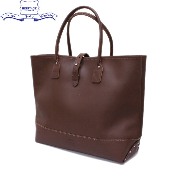 正規取扱店 HERITAGE LEATHER CO.(ヘリテージレザー) NO.7955ST Mocassin Leather Tote Bag(レザートートバッグ) Brown/Brown HL052