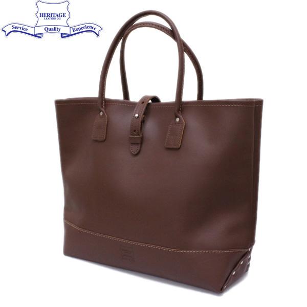 正規取扱店 HERITAGE LEATHER CO.(ヘリテージレザー) NO.7955ST Mocassin Leather Tote Bag(レザートートバッグ) Brown/Brown HL052