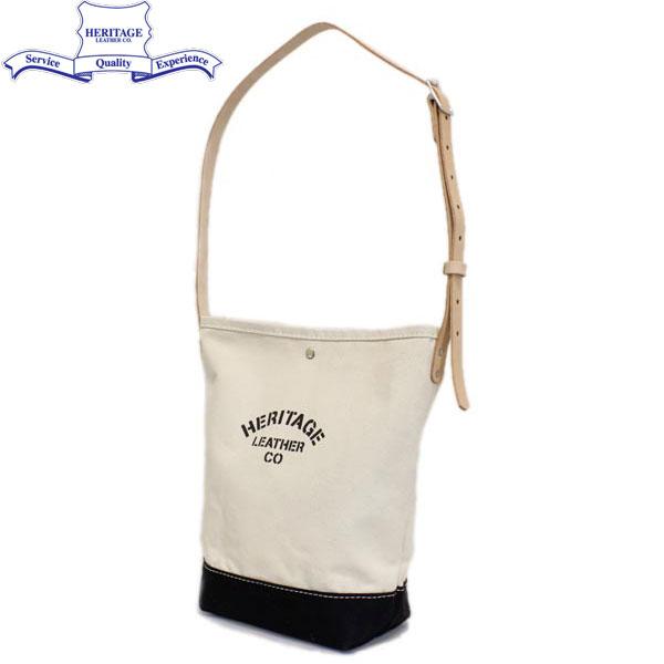 正規取扱店 HERITAGE LEATHER CO.(ヘリテージレザー) NO.8105 Bucket Shoulder Bag(バケットショルダーバッグ) Natural/Black HL093