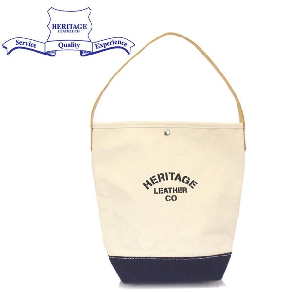 正規取扱店 HERITAGE LEATHER CO.(ヘリテージレザー) NO.7935 Bucket Tote バケットトートバッグ Natural/Navy HL226