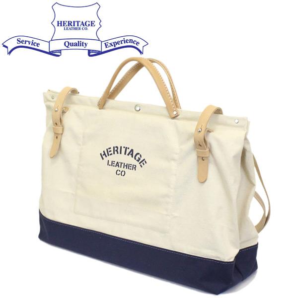 """正規取扱店 HERITAGE LEATHER CO.(ヘリテージレザー) NO.8288 20"""" Utility Art Bag 20インチユーティリティアートバッグ Natural x Navy HL216"""