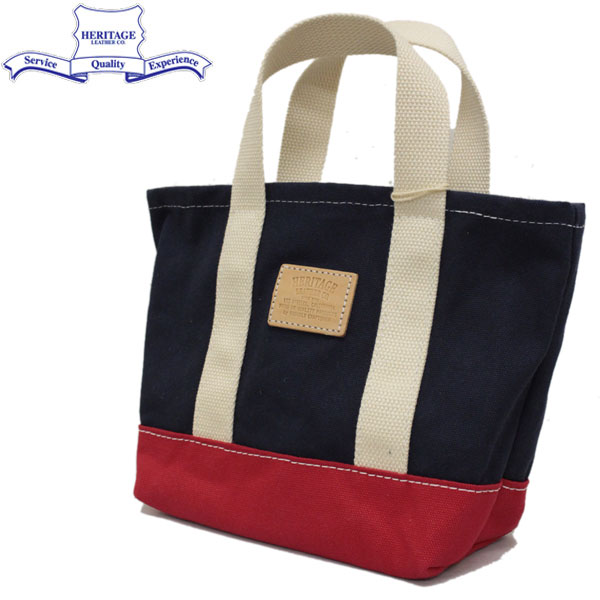 正規取扱店 HERITAGE LEATHER CO.(ヘリテージレザー) NO.8309 Lunch Bag (ランチバッグ) Navy/Red HL187