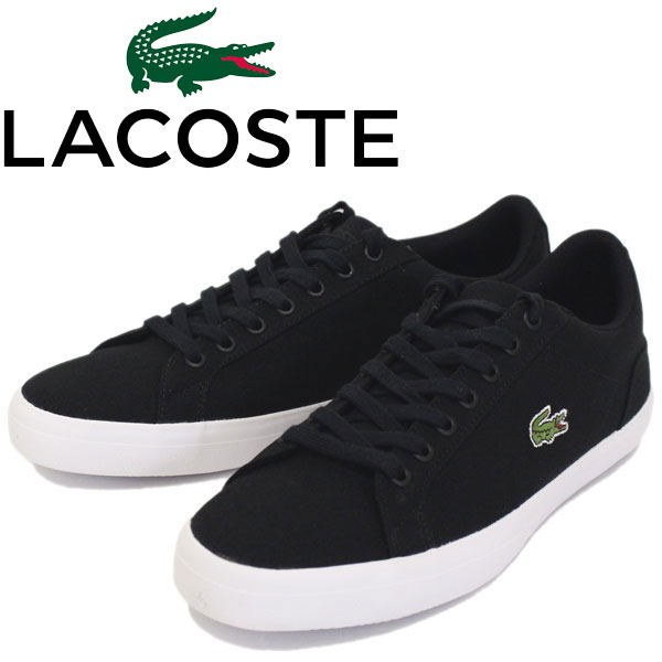 正規取扱店 LACOSTE (ラコステ) CAM1033 LEROND(ルロン) BL 2 キャンバススニーカー 024-BLACK LC101