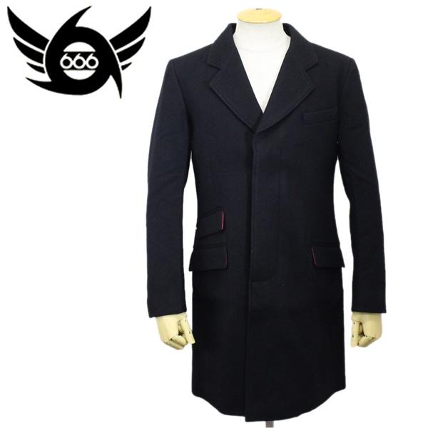 正規取扱店 666 JOE HAWKINS Crombie Coat (ジョーホーキンス クロンビーコート) ブラック JHJ0002