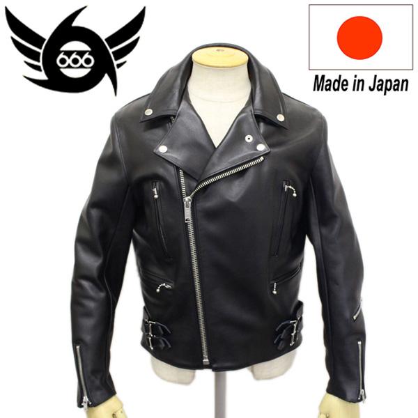 正規取扱店 666 LJM-1 U.K.SIDE BELT LEATHER JACKET REGULAR FIT(サイドベルト レザージャケット レギュラーフィット) 日本製 BLACK